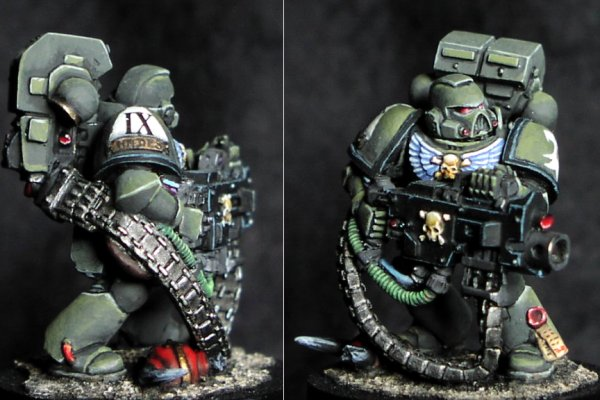 CoolMiniOrNot - Space marine of the Raptor chapter by Philippe
