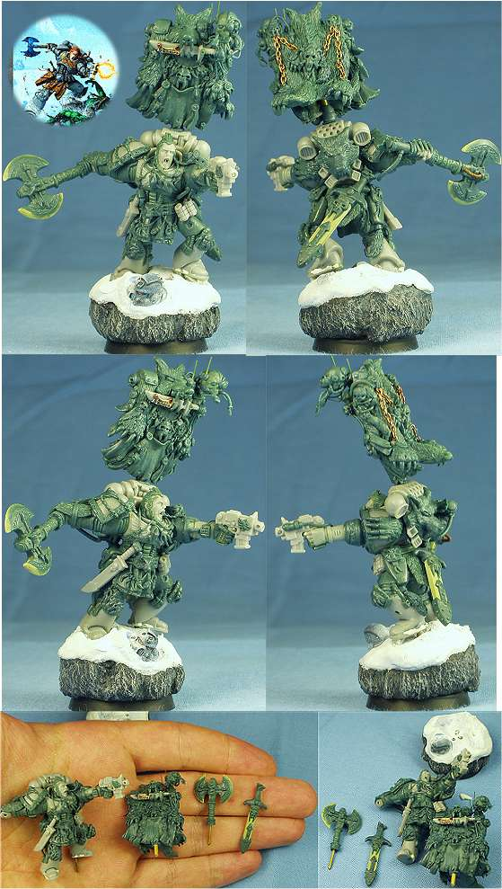 Space Wolf (Codex Cover Conversion 28mm)