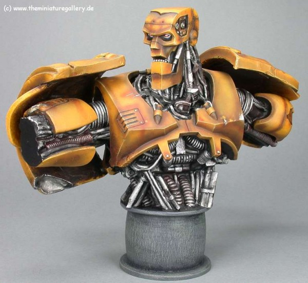 coolminiornot abc robot bust by brushguy
