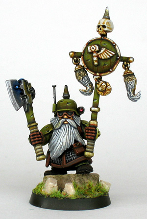 Space Dwarf / Squat, with banner