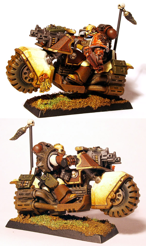 Space Marine Captain on Bike