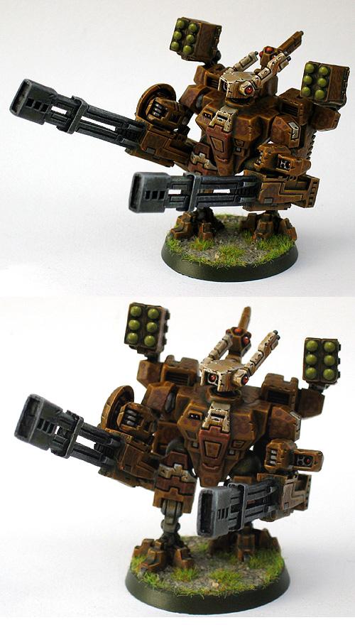 Four armed Tau BroadSide