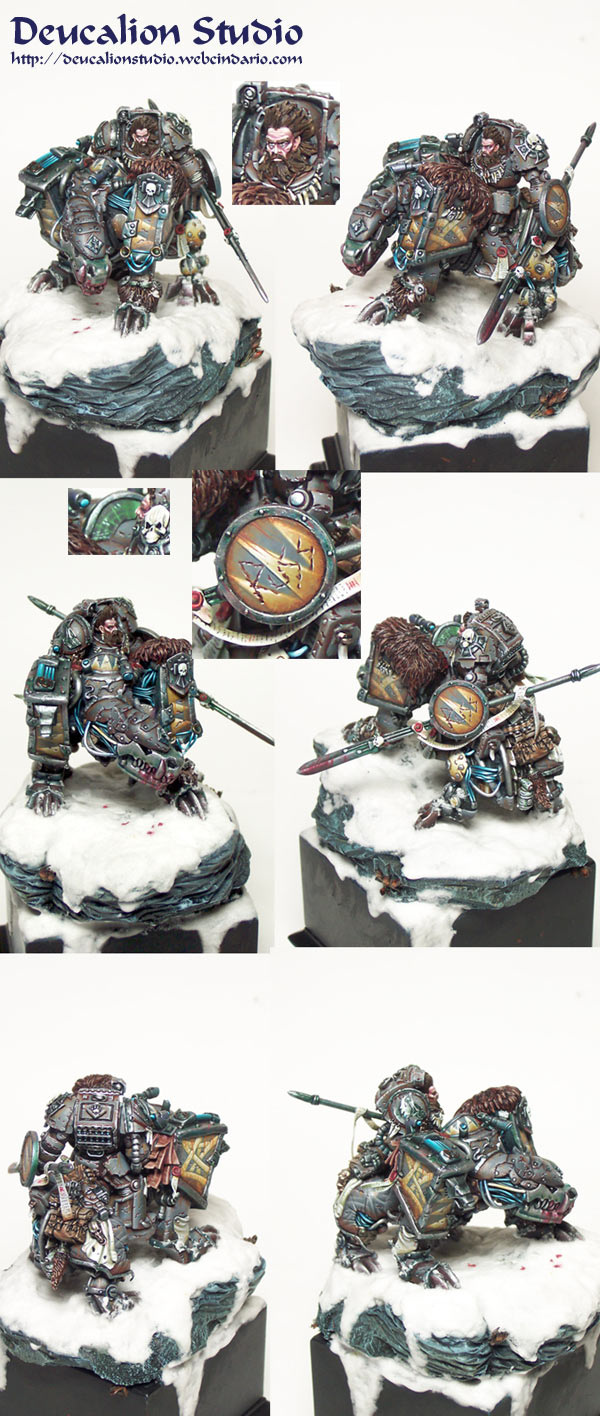 Space Wolf Patrarch Russ in Juggernauth