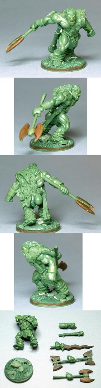 Korg Skullsplitter - 30mm Half Orc/Ogre Barbarian