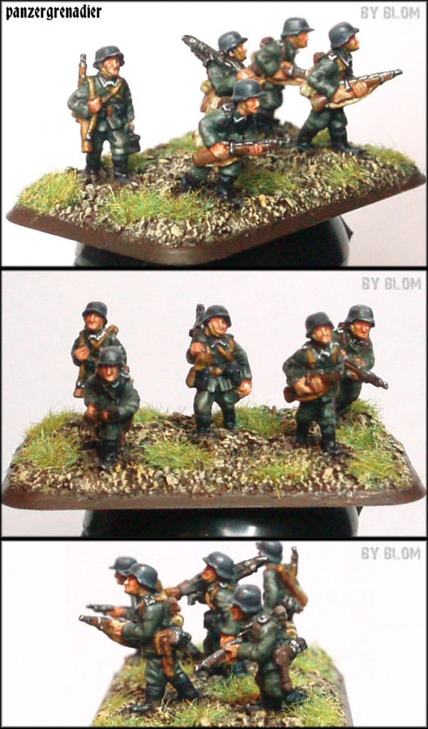 here  my first panzergranaderos for flames of war  the scale is 15mm