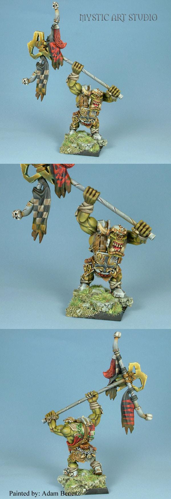Orc Army Battle Standard Bearer