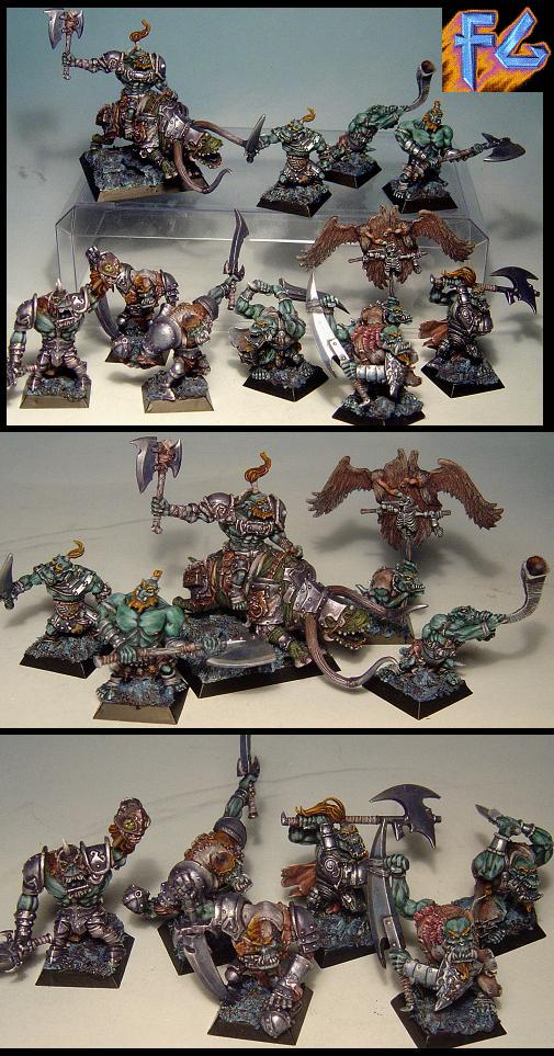 orc army, 11 minis on ebay