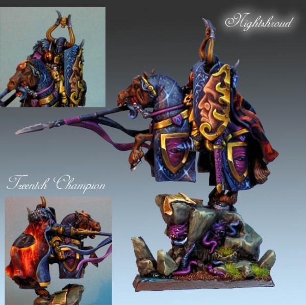 mounted Tzeentch Champion