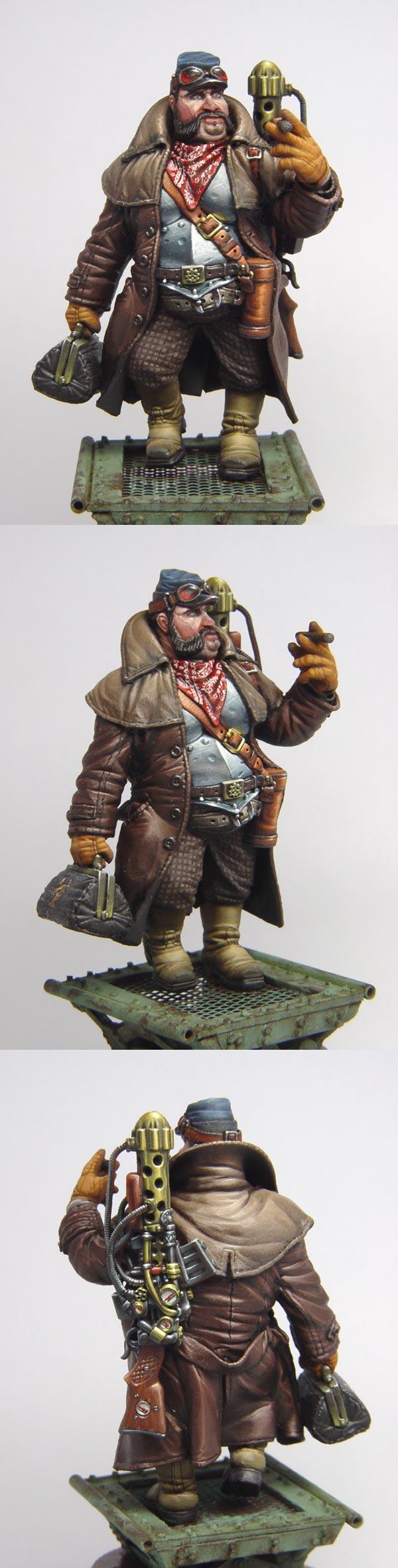 Steampunk ogre archeologist