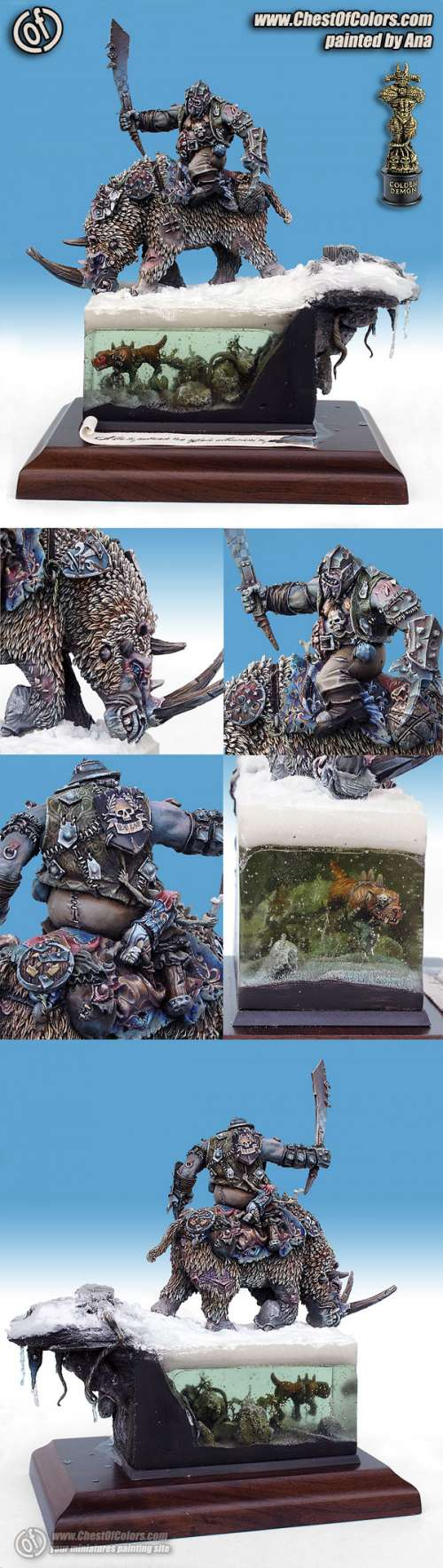 GOLDEN DEMON POLAND 2007 - Gold in Warhammer Monster - Ogre on Rhinox