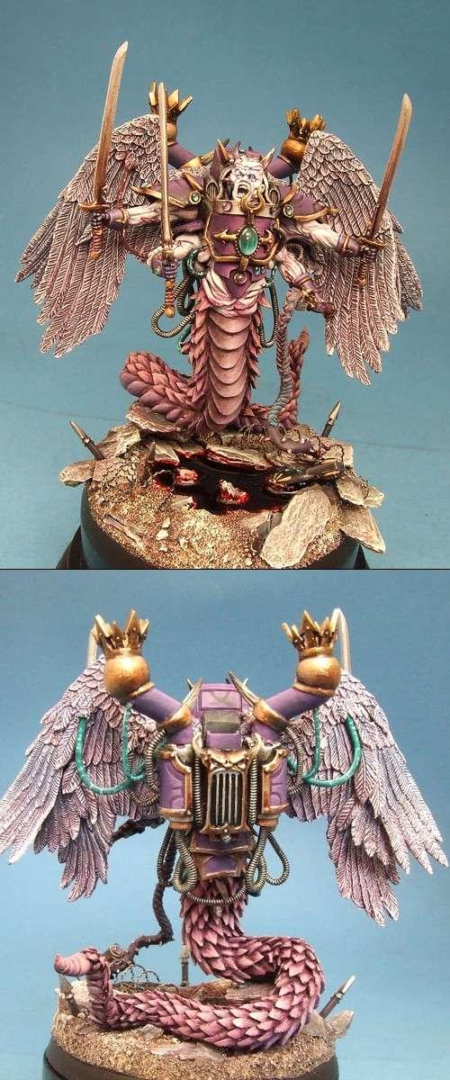 Fulgrim Slaanesh Daemon Prince Bronze 40K monster GD UK