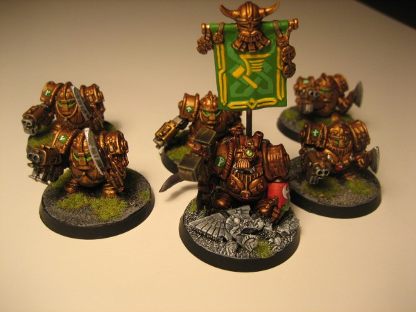 Hearthguard Exoarmor squad with Squat Warlord