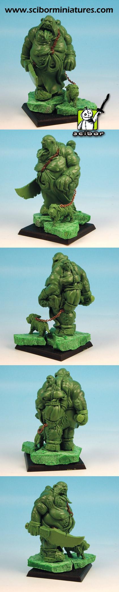 28mm scale Ogre Greenstuff Sculpture