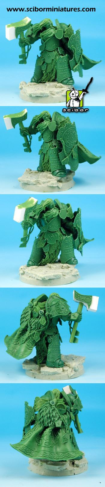 Science Fiction Celtic Warrior Greenstuff Sculpture