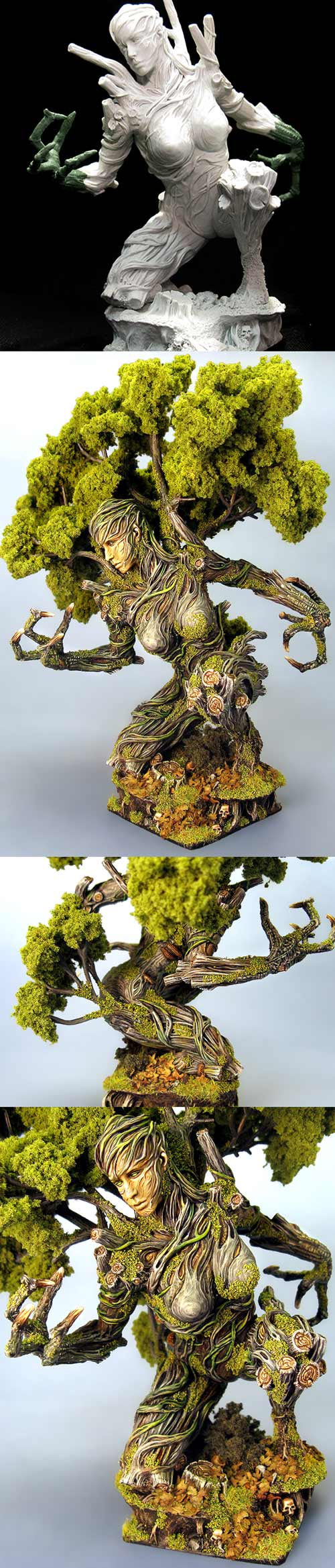 Springtime Treewoman with sculpted claws
