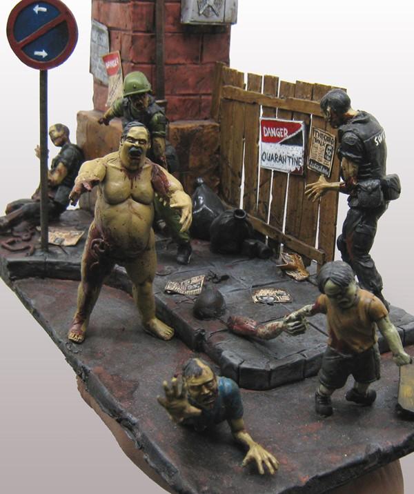 CoolMiniOrNot - diorama zombie final by alfredolanda