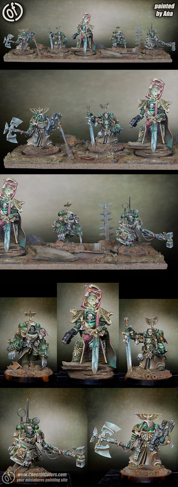 Dark Angels space marines command group