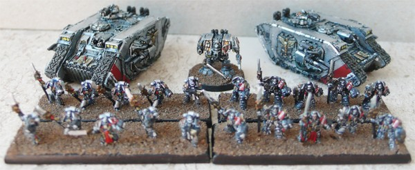 CoolMiniOrNot - Small Epic scale Grey Knight force by Warmaster Nice