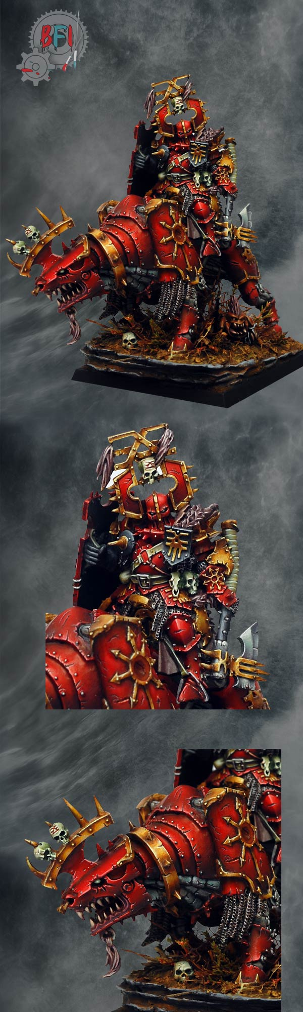 Lord of Khorne on Juggernaut closeups