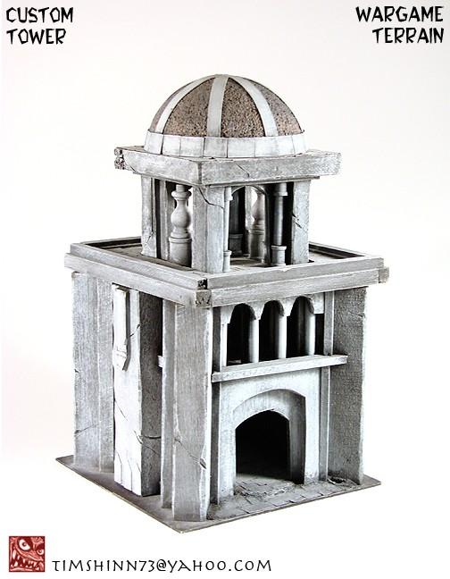 Coolminiornot Lotr Style Gondor Osgiliath Tower Terrain By Timshinn73