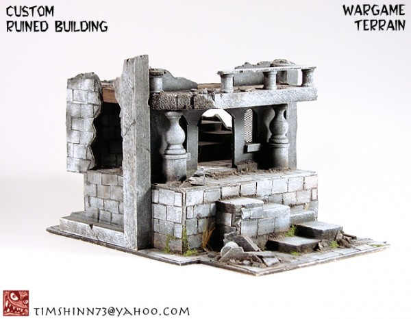 Coolminiornot Lotr Style Gondor Osgiliath Ruins Terrain By Timshinn73