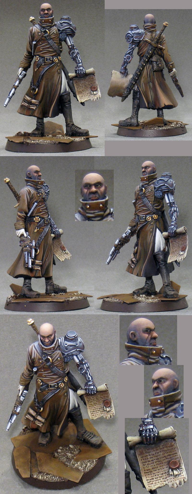 Damnation - Inquisitor, 54mm scale miniature