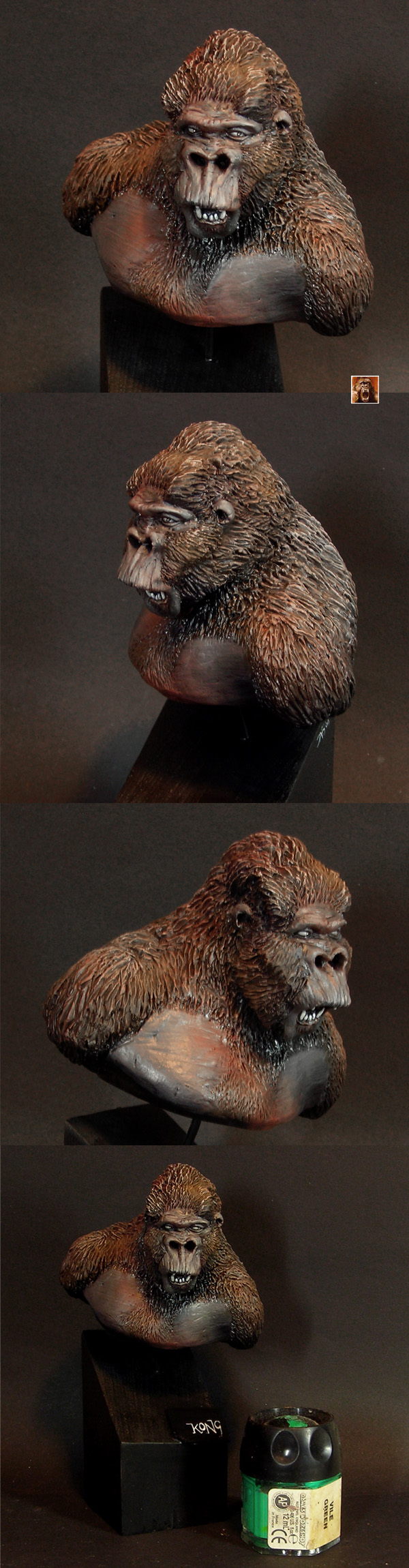 Kong bust painted