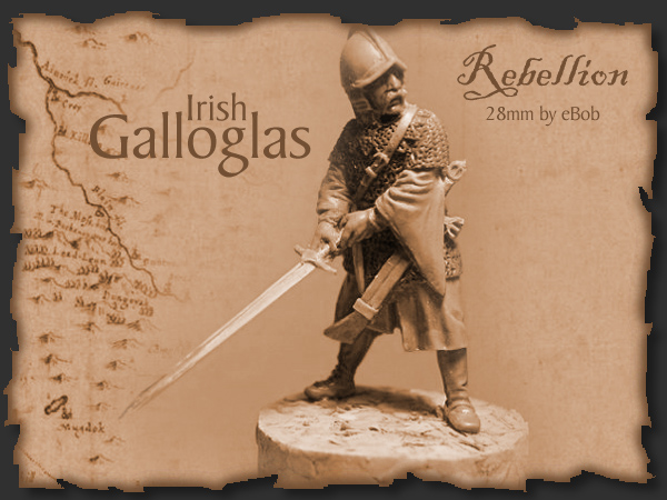 Irish Galloglas - 28mm