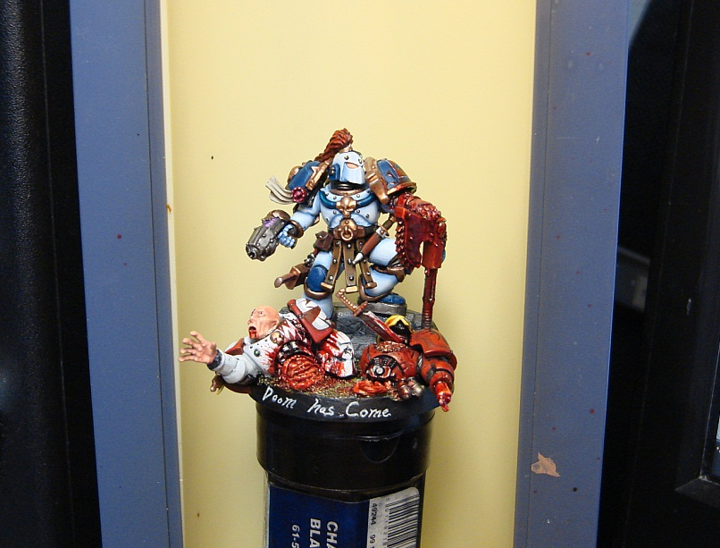 CoolMiniOrNot - Pre-heresy World eater captain Kharn by lesor1