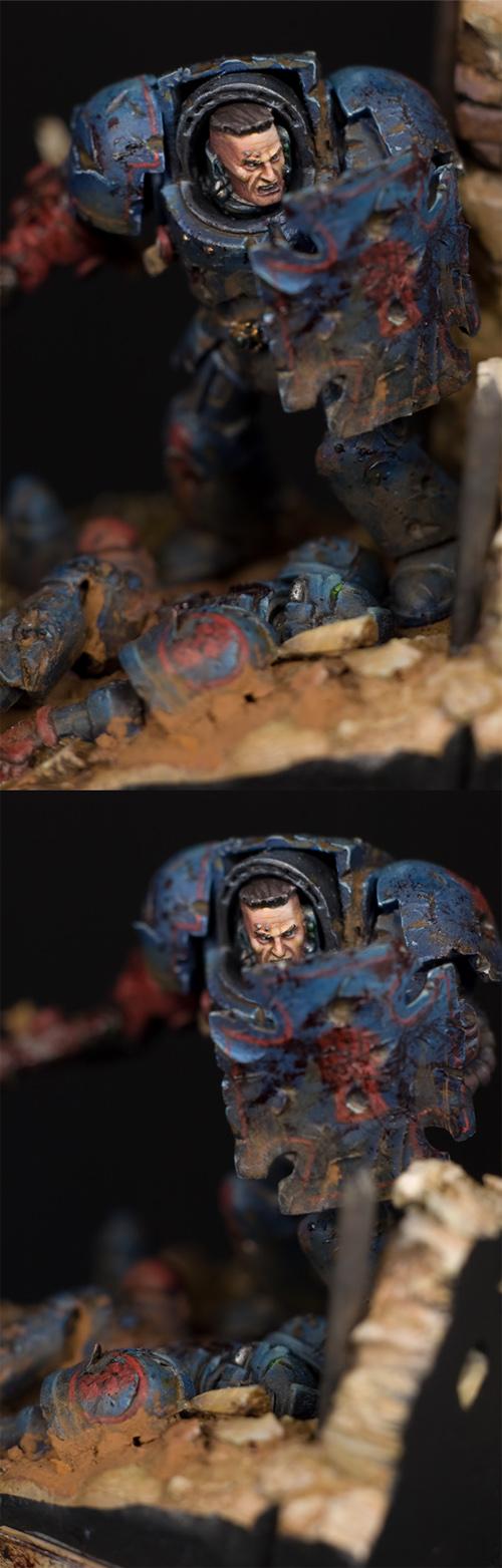 Captain Crixus of the Crimson Fists - detail photos