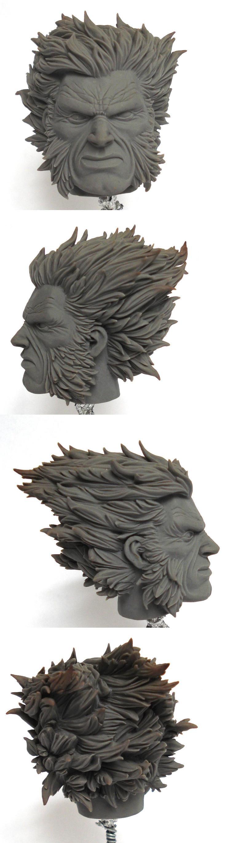 Scratchbuilt Wolverine's head
