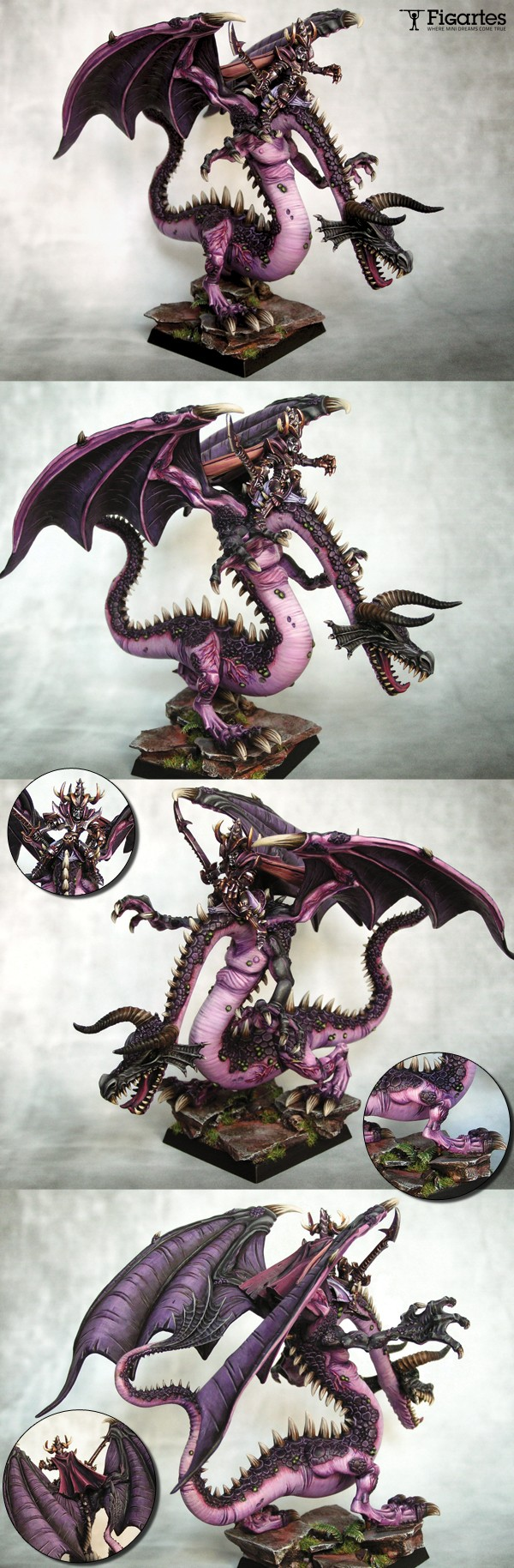 Malekith, witch King on Pink Dragon