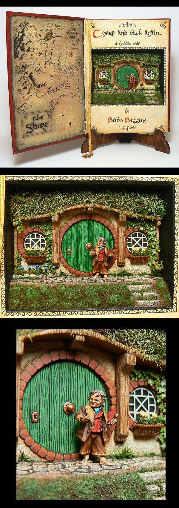 Bilbo Baggins (diorama in a book)