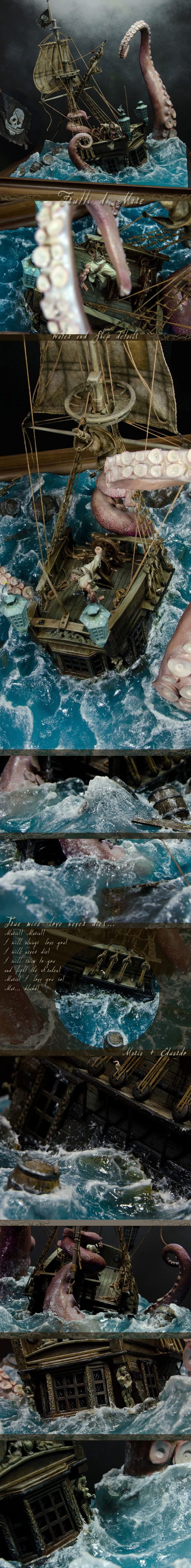 Frutti di Mare - Ship and water details