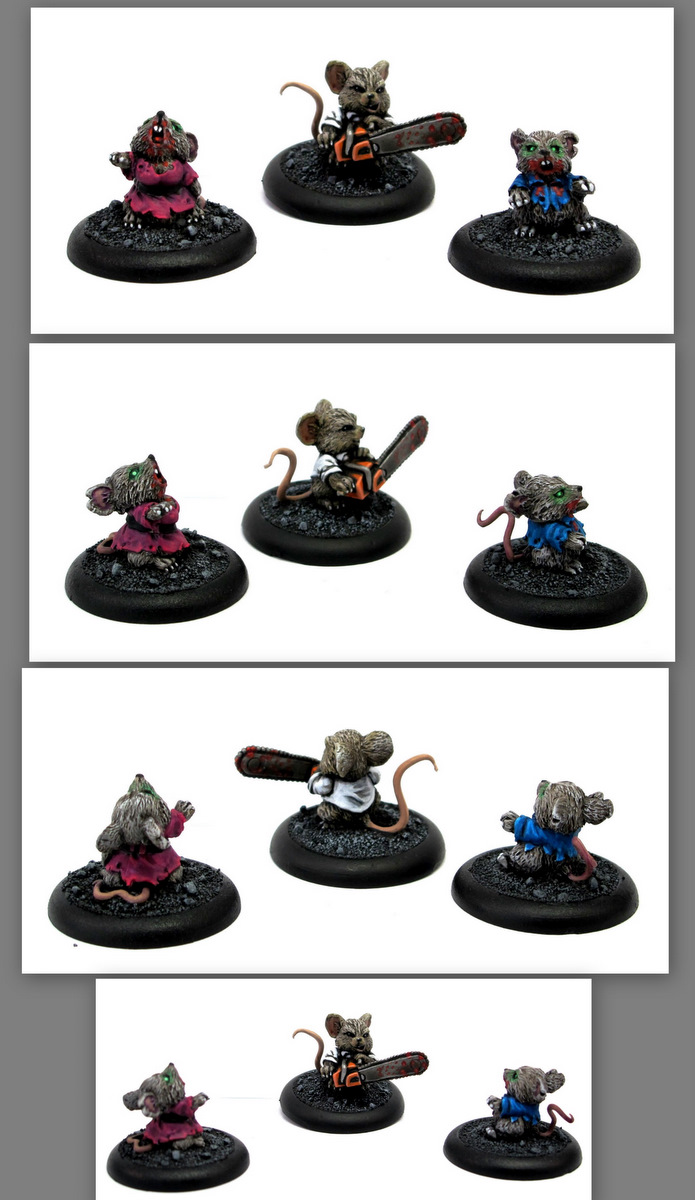Reaper Miniatures Mousling Zombies and Zombie Hunter