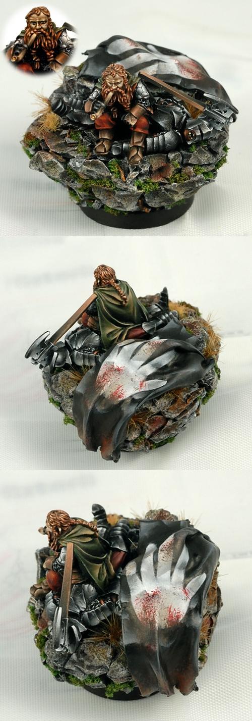 Gimli on Dead Uruk-Hai Golden Demon 2011 finalist
