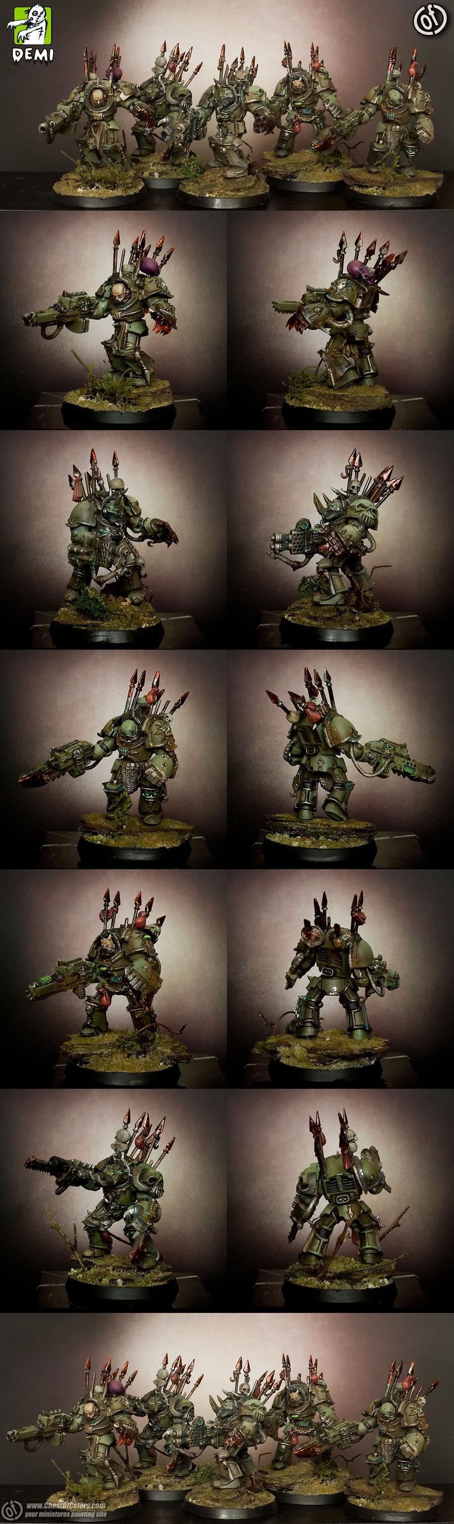 Death Guard Chaos Terminators Squad