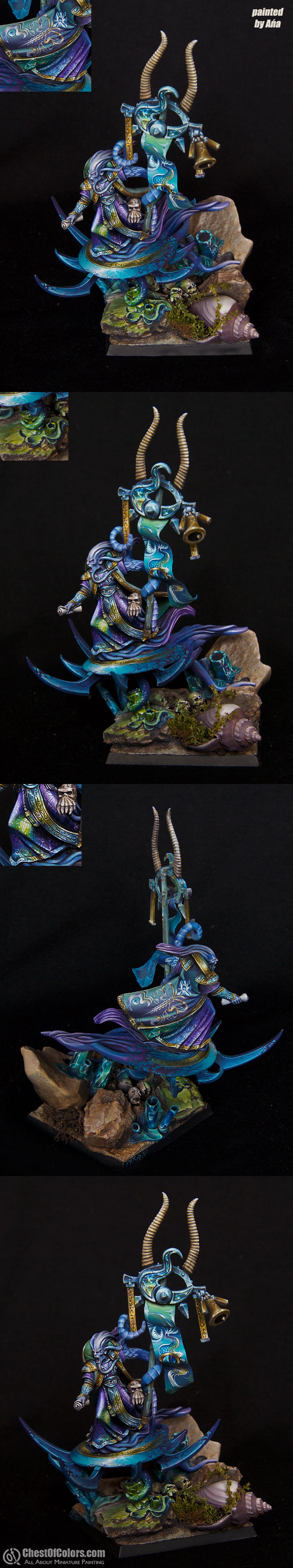 Limited Edition Champion of Tzeentch (converted to icon bearer)