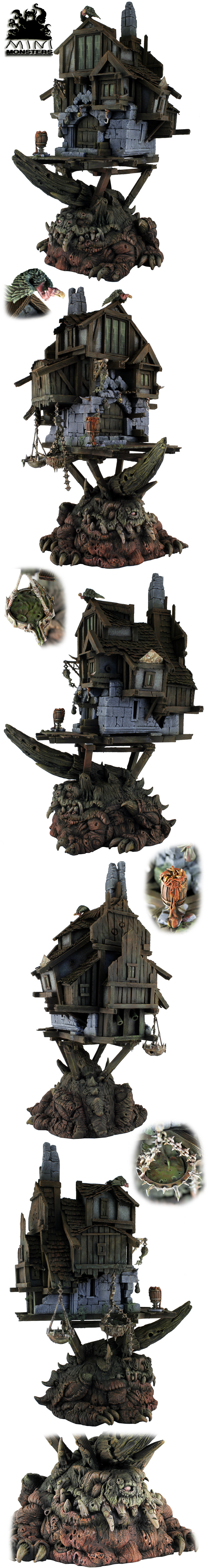 Chaos Nurgle Sorcerer House on the Giant Toad
