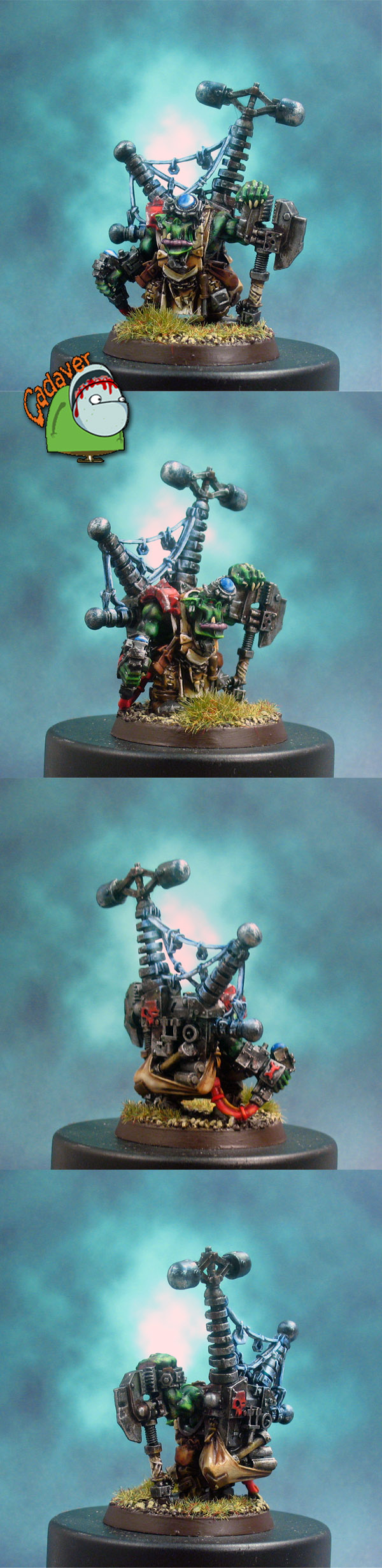 Ork Big Mek with Custom Force Field