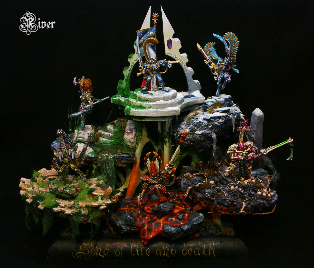 Song of Life and Death, Eldar Phoenix Lords - diorama
