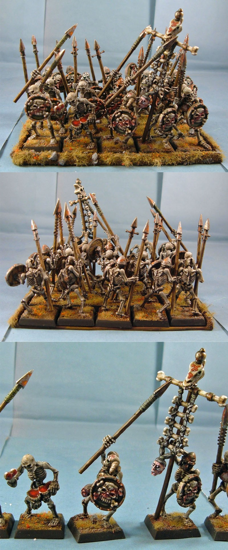 Skeletons with Spears