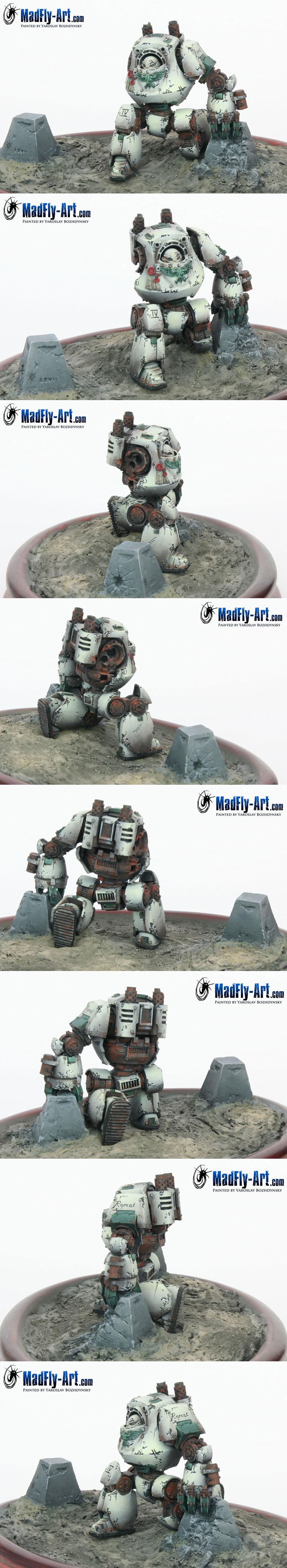 Death Guard Contemptor Dreadnought (Closeups)