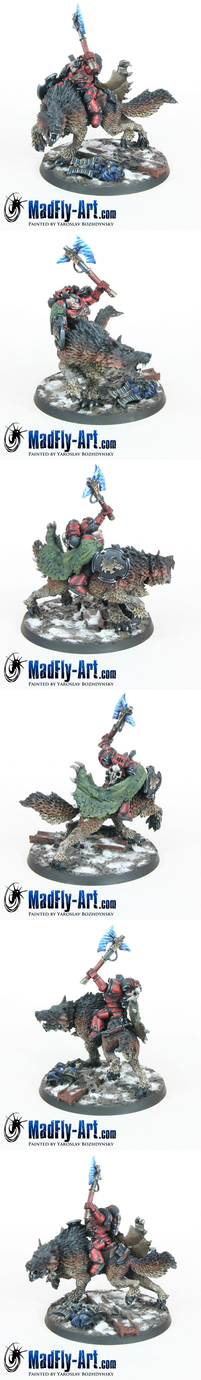Wolf Lord on Thunderwolf (Red Style)