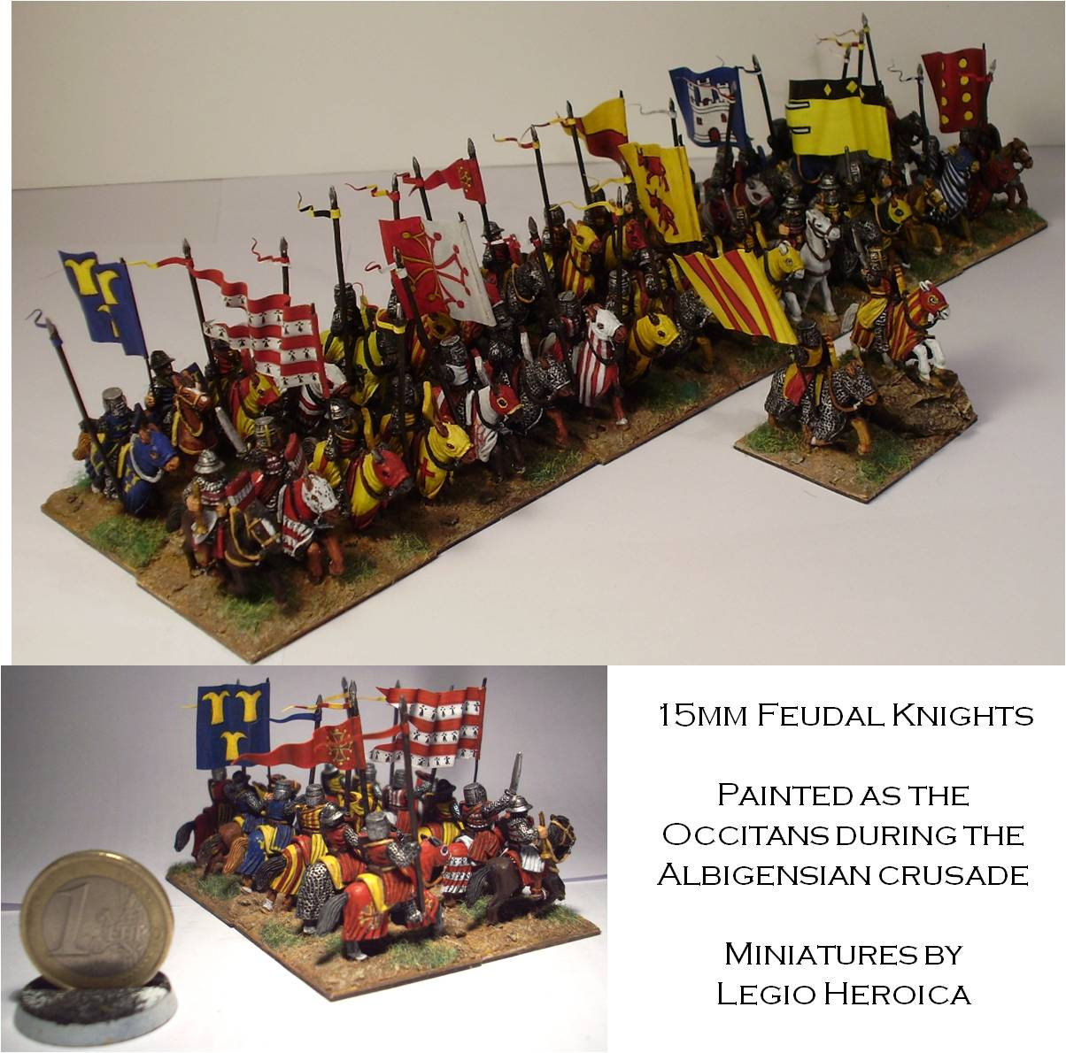 15mm Occitan feudal knights