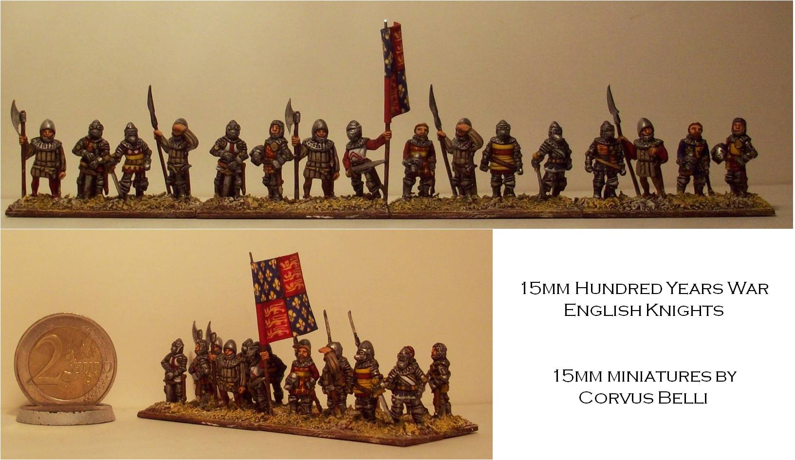 15mm Hundred Years War English knights