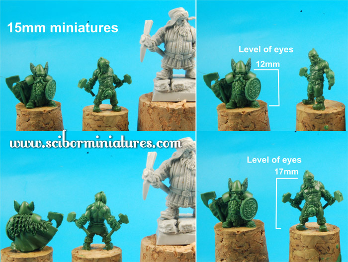 CoolMiniOrNot - 15 mm miniatures green by Scibor