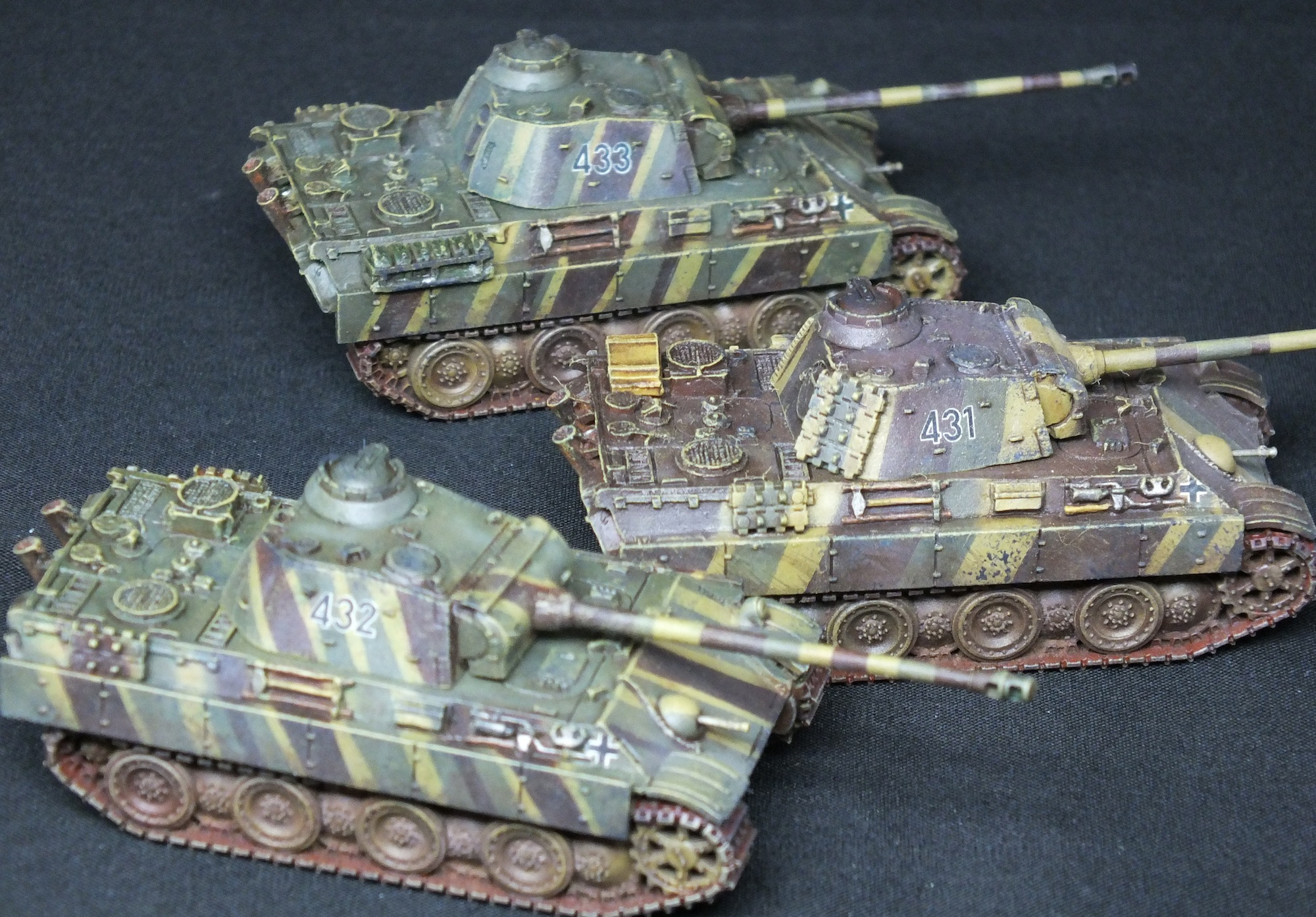 coolminiornot flames of war panther g squad in latewar