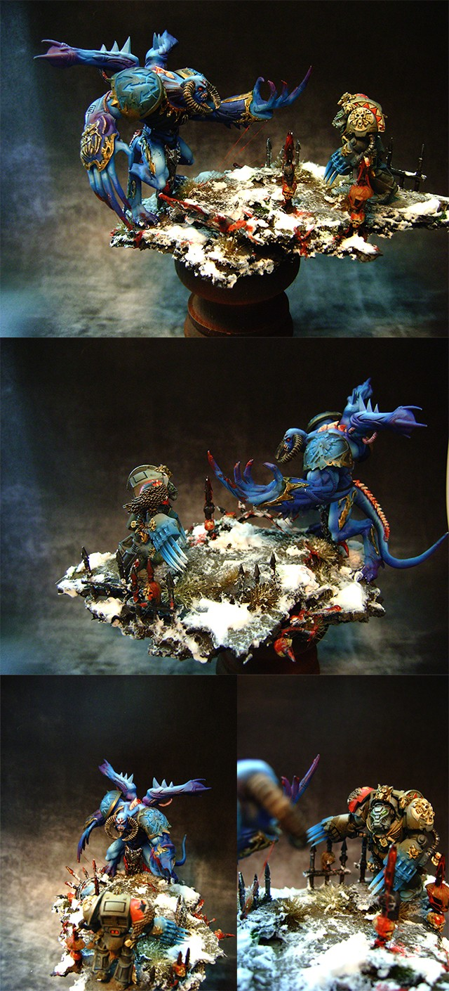 Daemon Prince vs Space Wolf