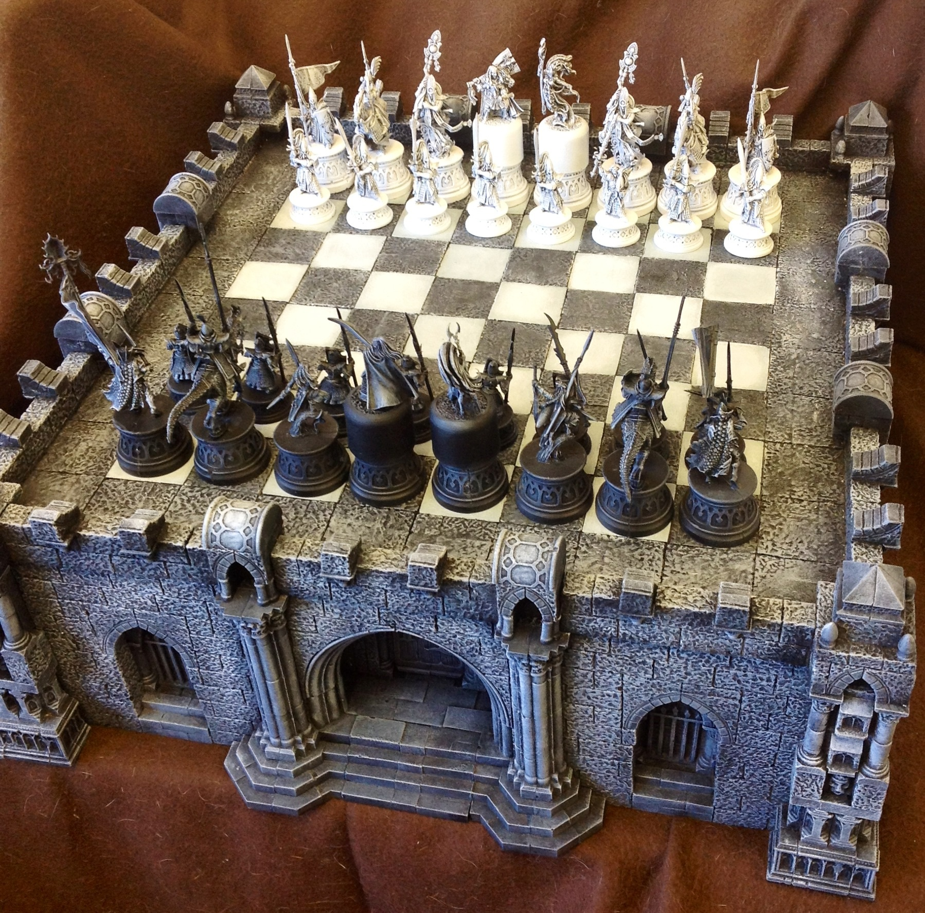 Fantasy Chess Set Coolminiornot Gothic Chess Set By Ojoj
